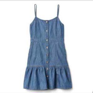 Gap Kids Girls Denim Button Up Sundress